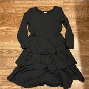 LuLaRoe Georgia solid black dress 3XL NWT